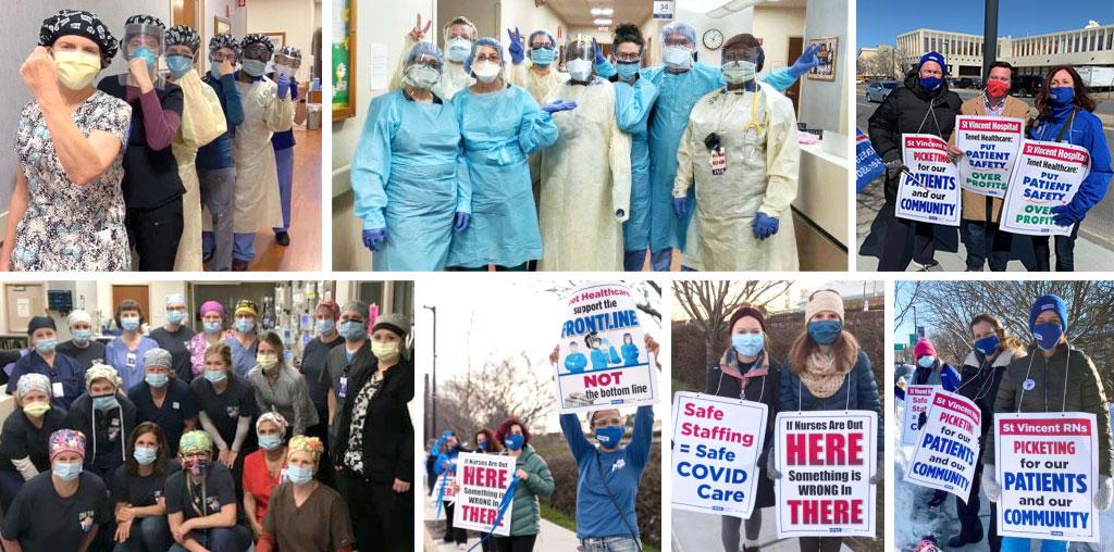 St Vincent Nurses on Strike